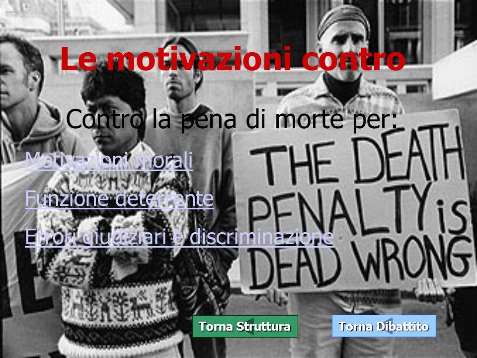 Contro la pena di morte per: