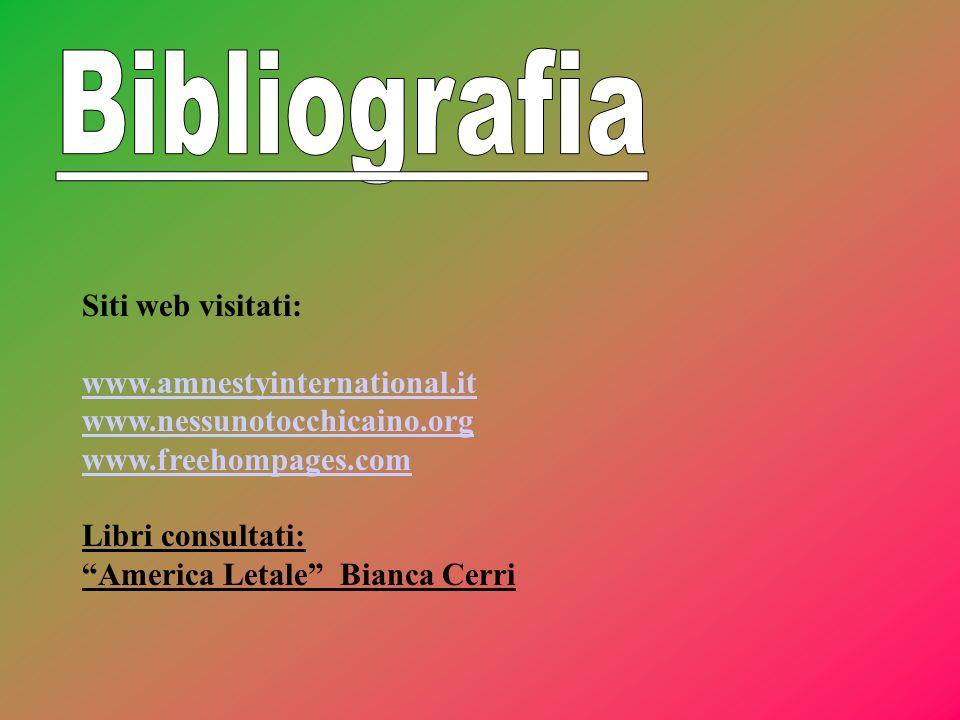 Bibliografia Siti web visitati: www.amnestyinternational.it