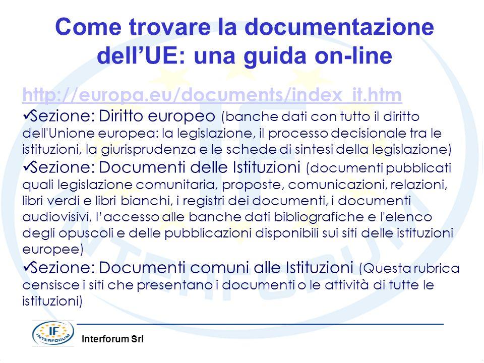 Come trovare la documentazione dell'UE: una guida on-line