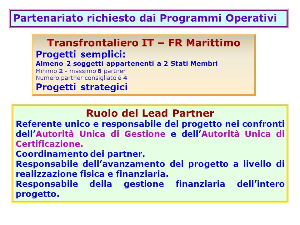 Transfrontaliero IT – FR Marittimo