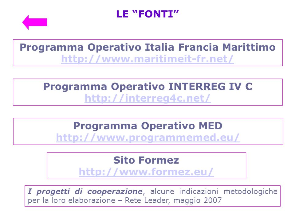 Programma Operativo Italia Francia Marittimo