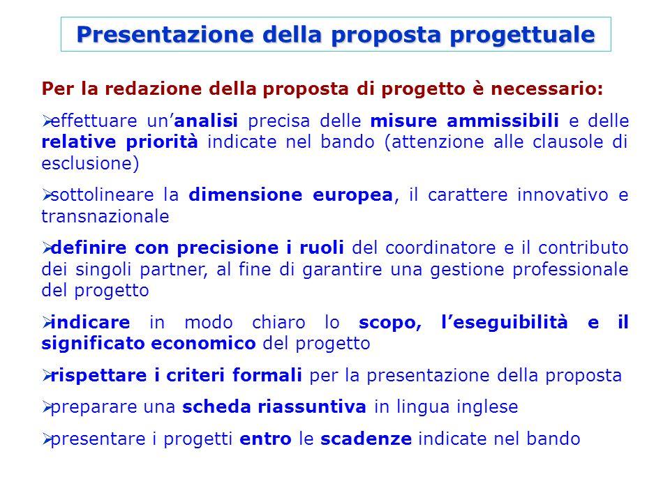 Presentazione della proposta progettuale