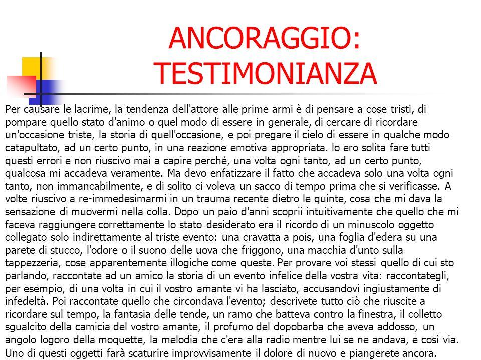 ANCORAGGIO: TESTIMONIANZA