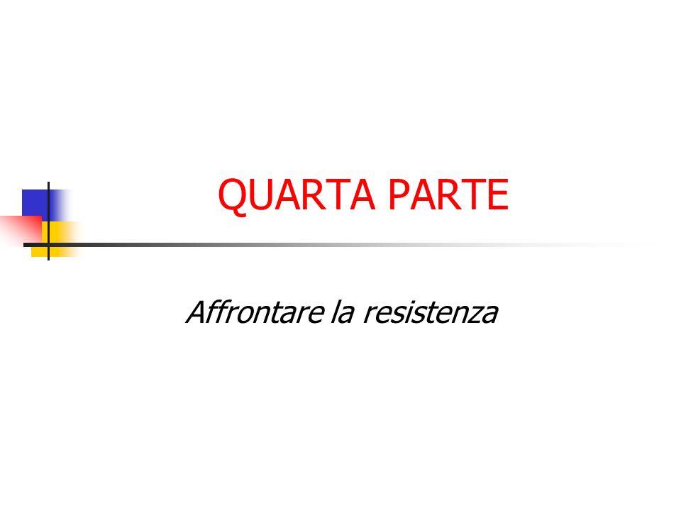 Affrontare la resistenza