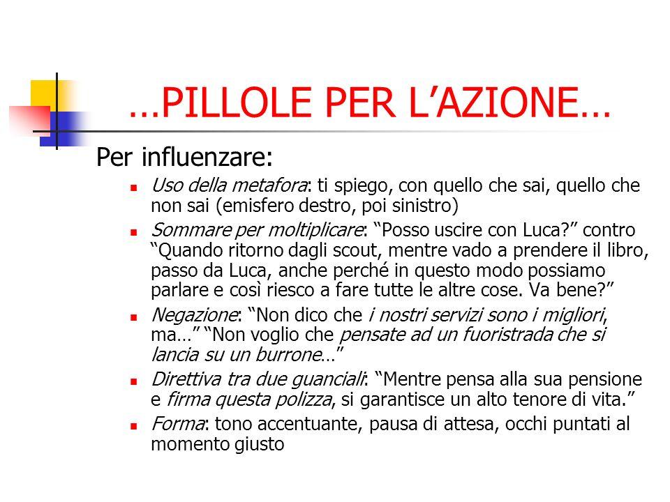 …PILLOLE PER L'AZIONE…
