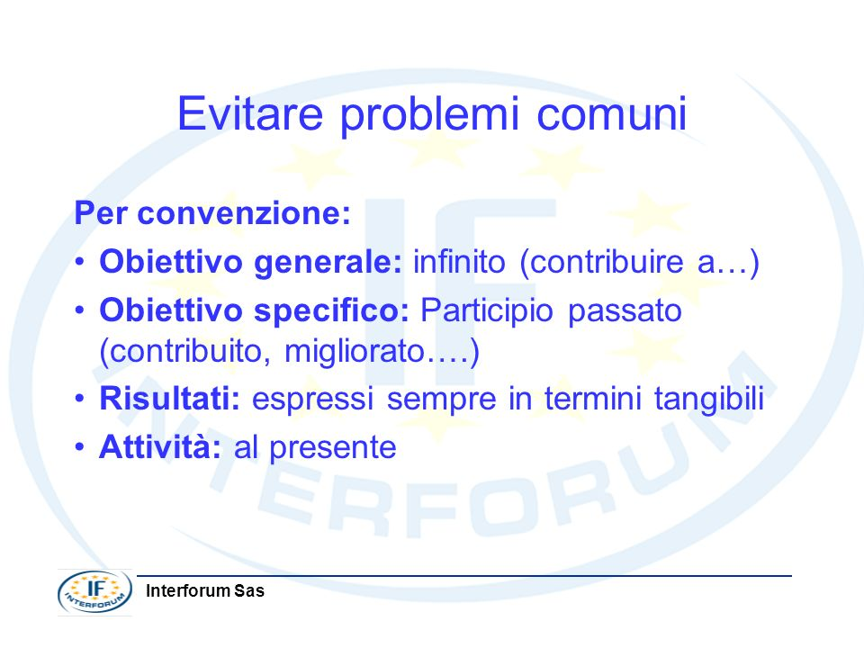 Evitare problemi comuni