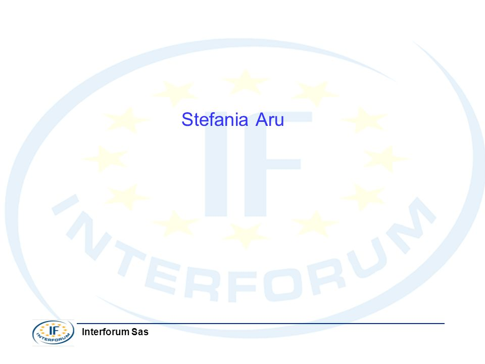 Stefania Aru Interforum Sas
