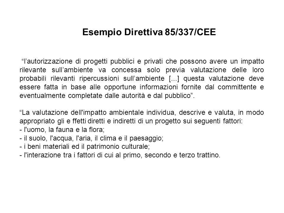 Esempio Direttiva 85/337/CEE