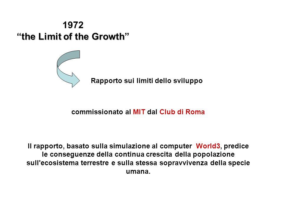 the Limit of the Growth commissionato al MIT dal Club di Roma