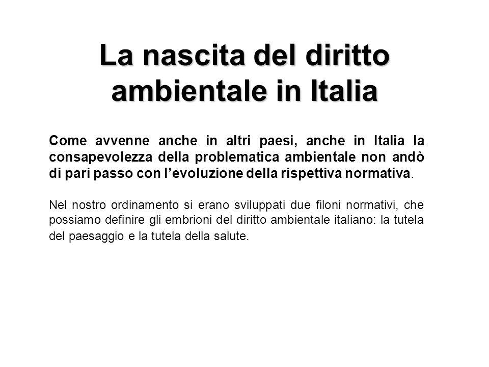 La nascita del diritto ambientale in Italia