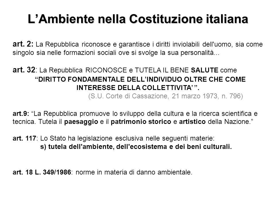 L'Ambiente nella Costituzione italiana