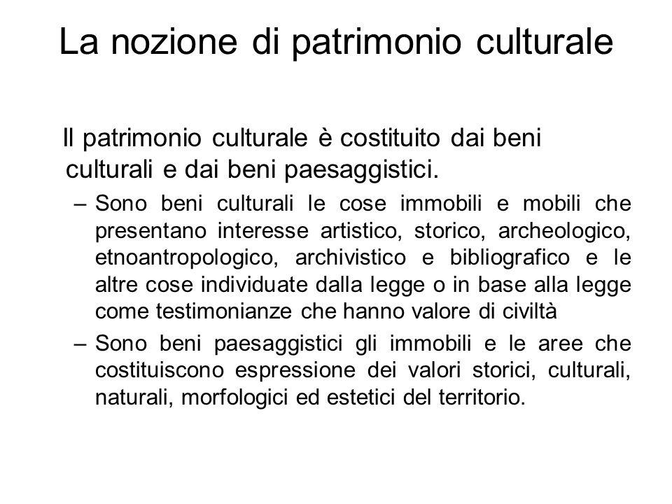 La nozione di patrimonio culturale