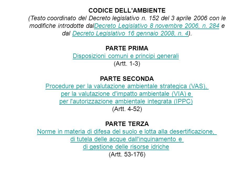 PARTE PRIMA Disposizioni comuni e principi generali (Artt. 1-3)