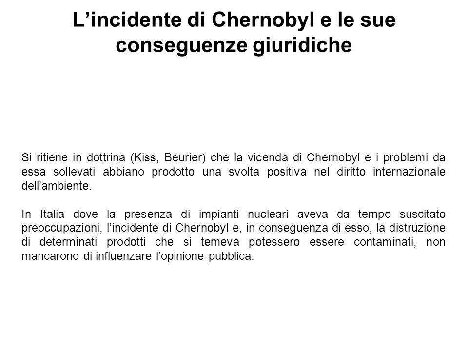 L'incidente di Chernobyl e le sue conseguenze giuridiche