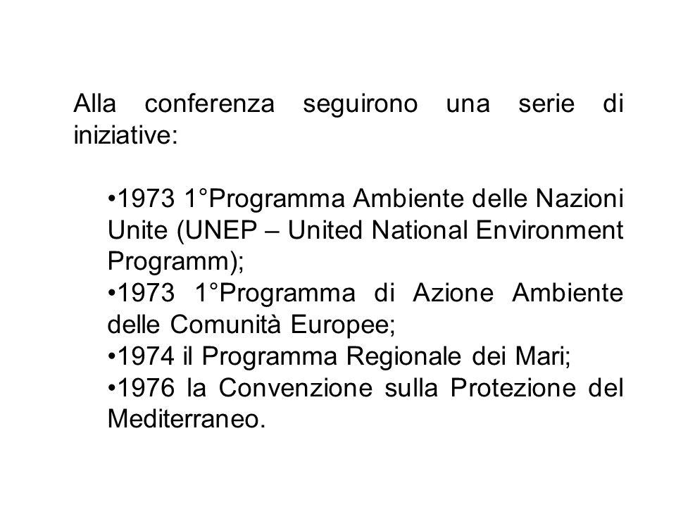 Alla conferenza seguirono una serie di iniziative:
