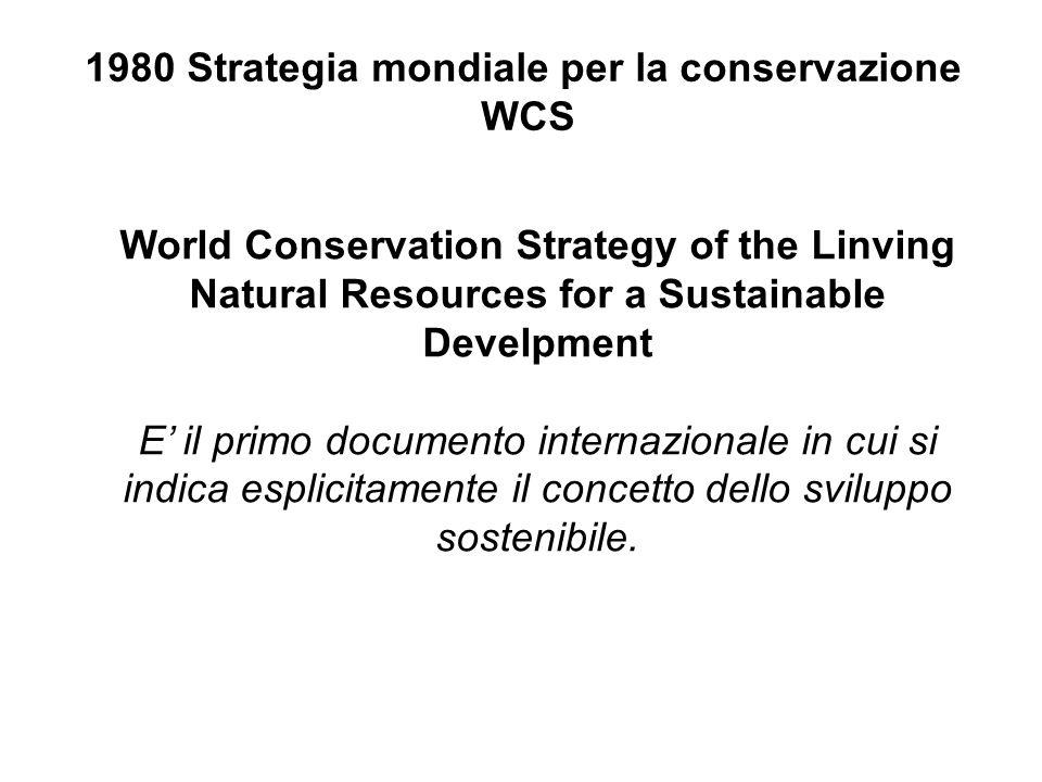 1980 Strategia mondiale per la conservazione