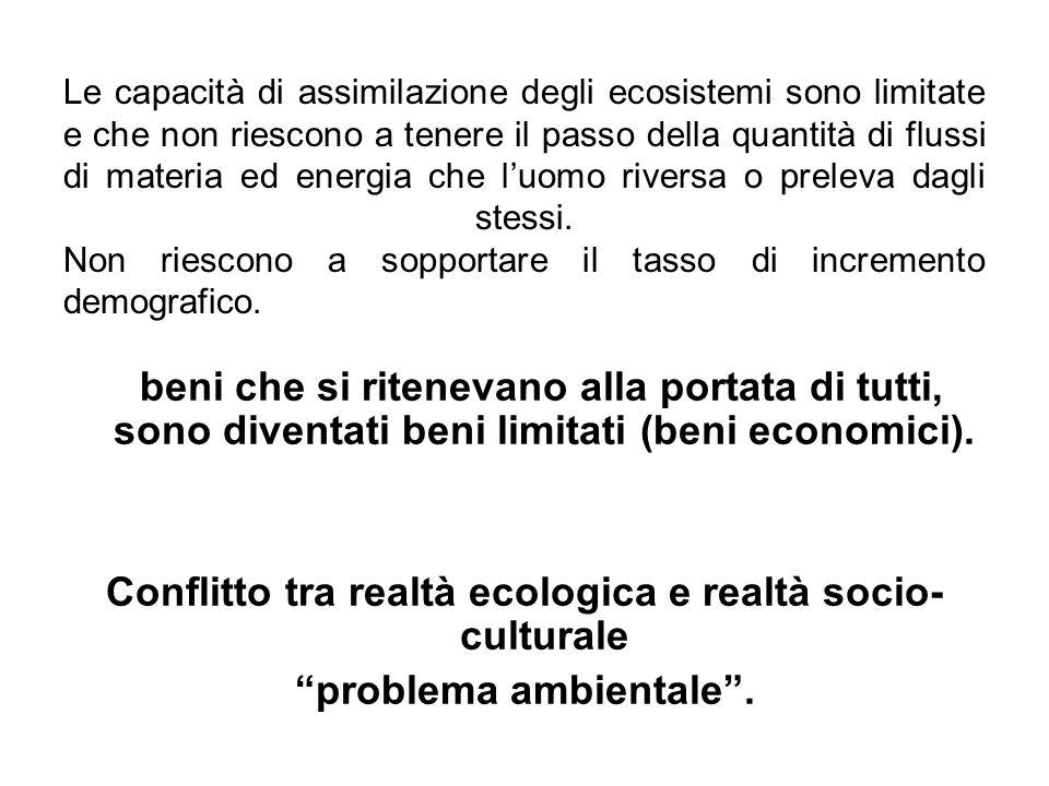 Conflitto tra realtà ecologica e realtà socio-culturale