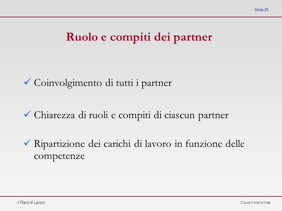 Ruolo e compiti dei partner