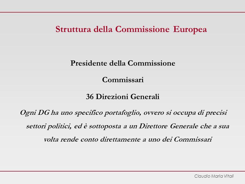 Struttura della Commissione Europea Presidente della Commissione