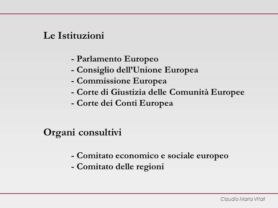 Le Istituzioni. - Parlamento Europeo. - Consiglio dell'Unione Europea