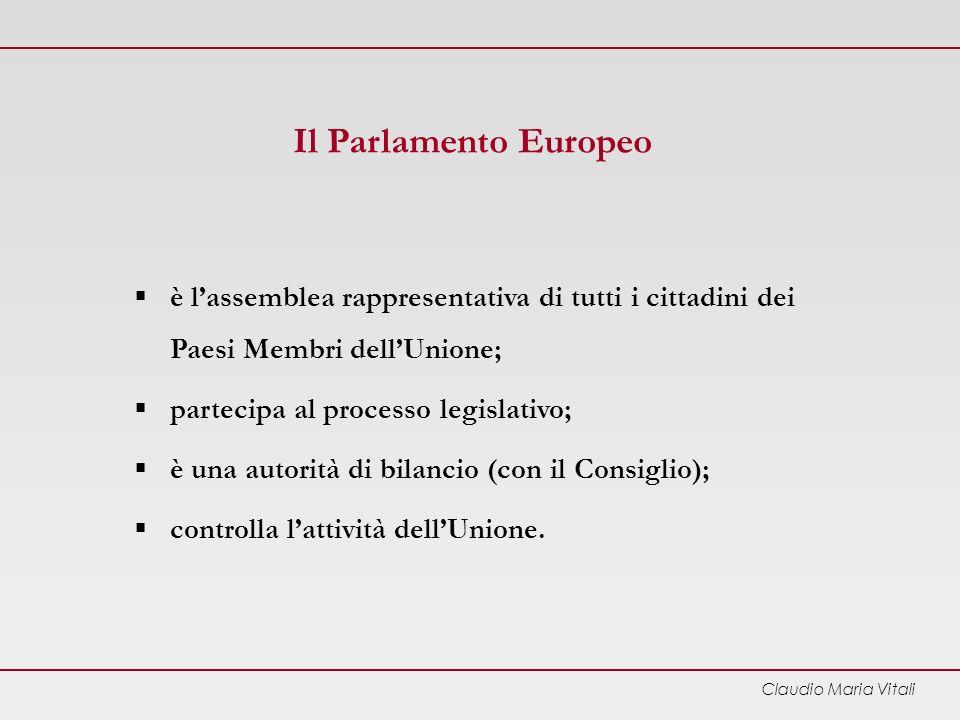 Il Parlamento Europeo è l'assemblea rappresentativa di tutti i cittadini dei Paesi Membri dell'Unione;