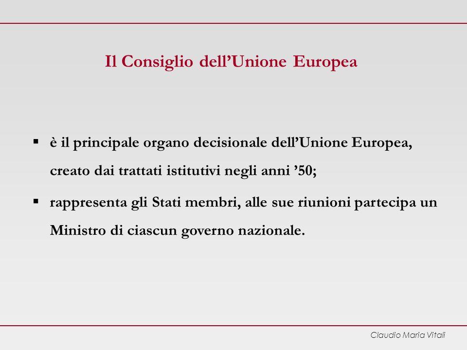 Il Consiglio dell'Unione Europea