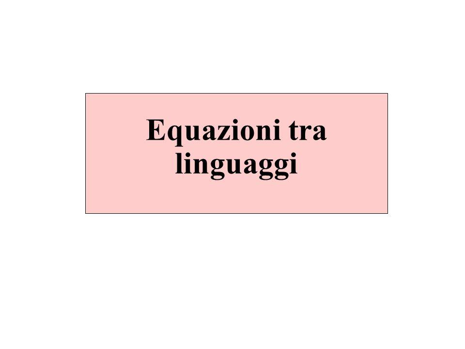 Equazioni tra linguaggi