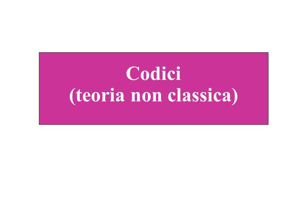 Codici (teoria non classica)