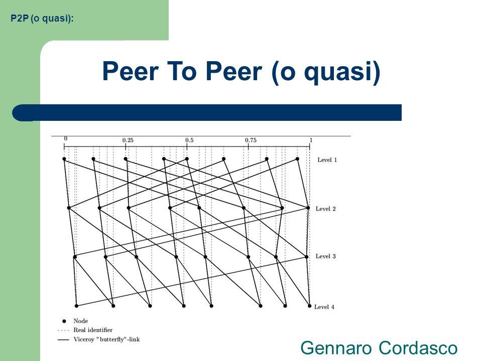 P2P (o quasi): Peer To Peer (o quasi) Gennaro Cordasco
