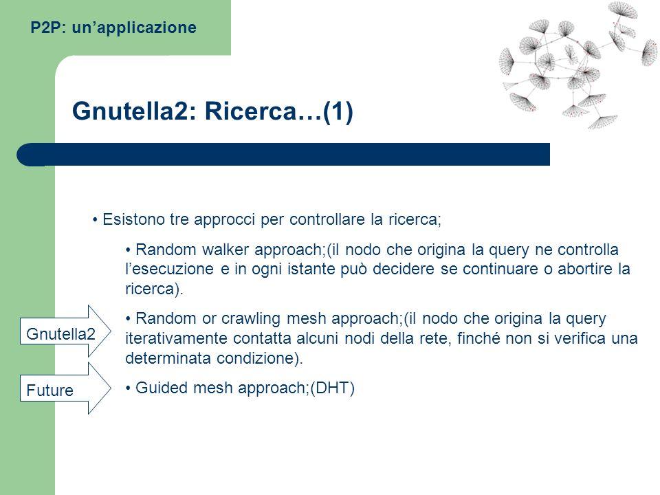 Gnutella2: Ricerca…(1) P2P: un'applicazione