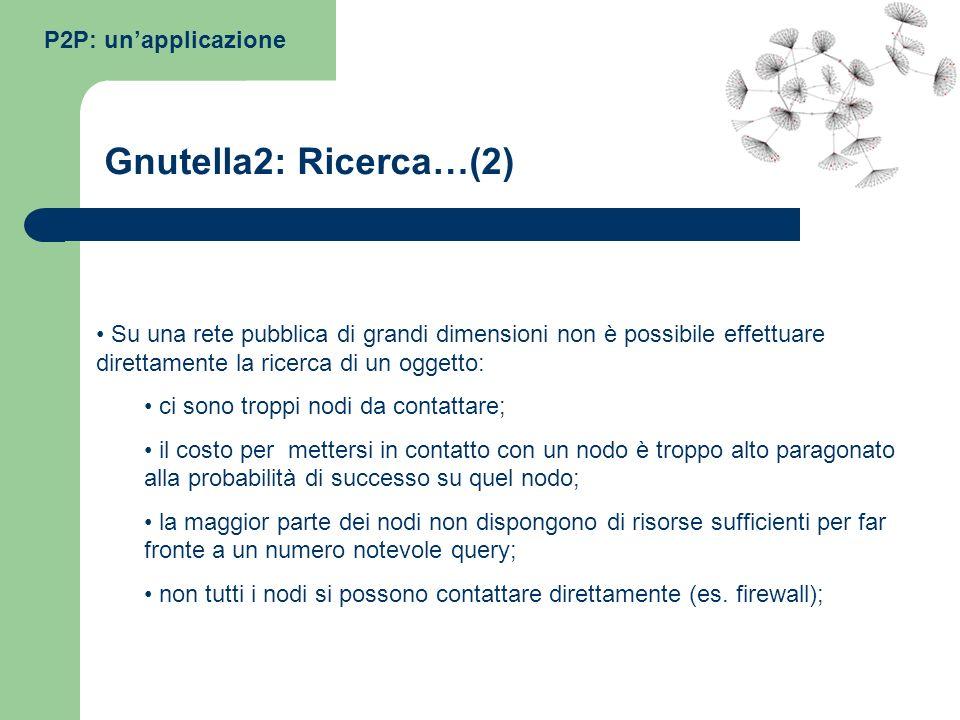 Gnutella2: Ricerca…(2) P2P: un'applicazione