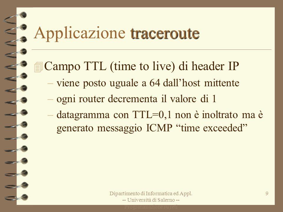 Applicazione traceroute