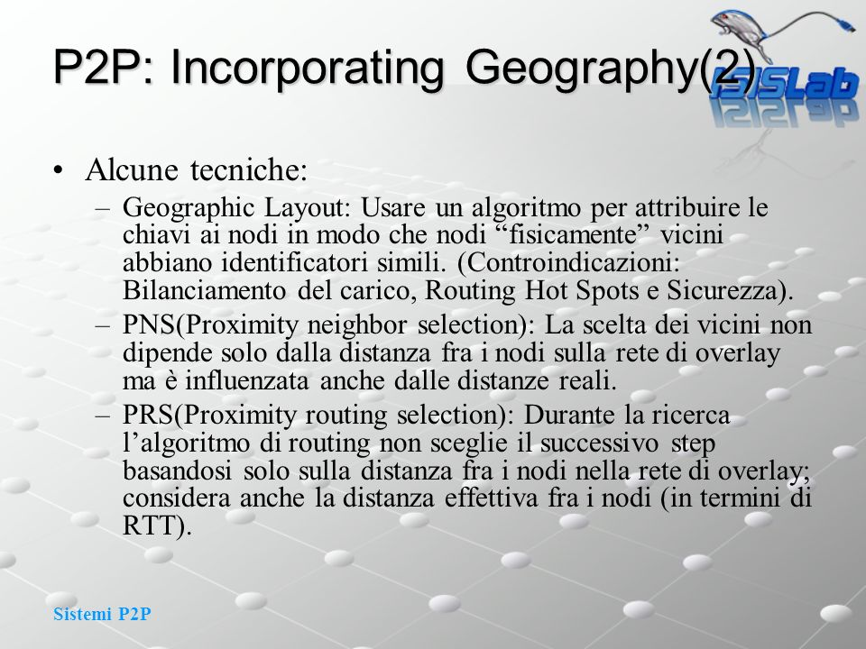 P2P: Incorporating Geography(2)