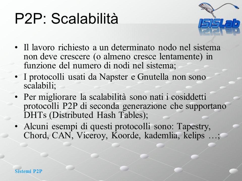P2P: Scalabilità
