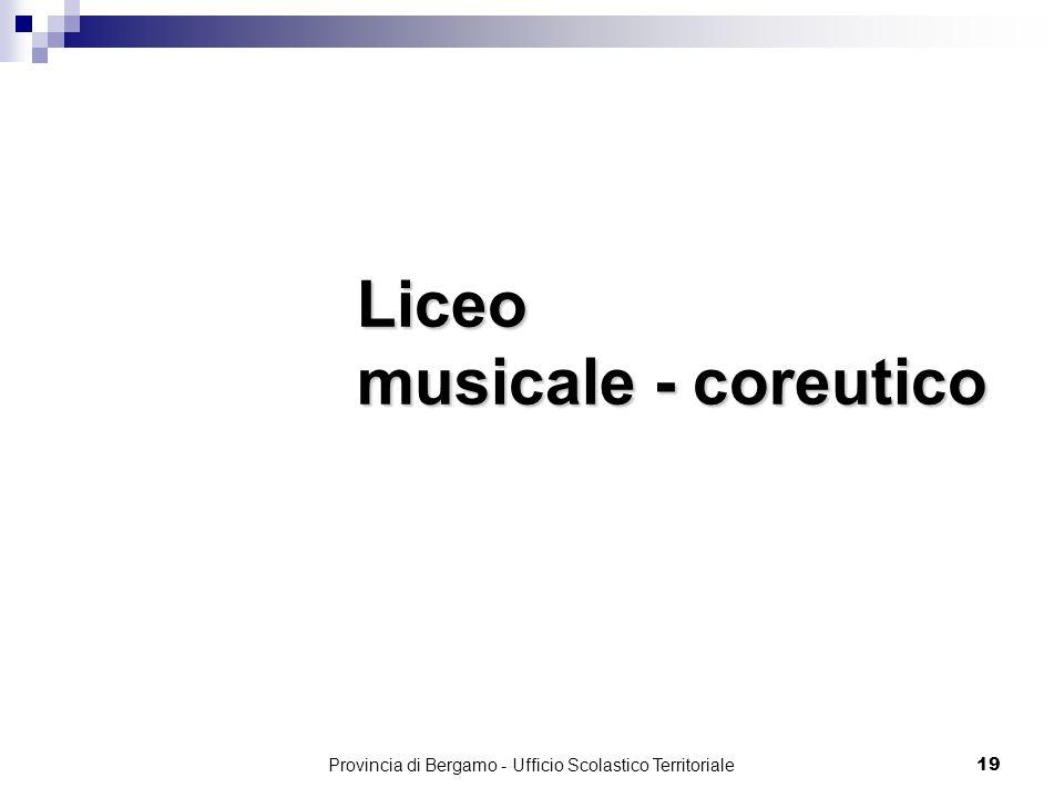 Liceo musicale - coreutico