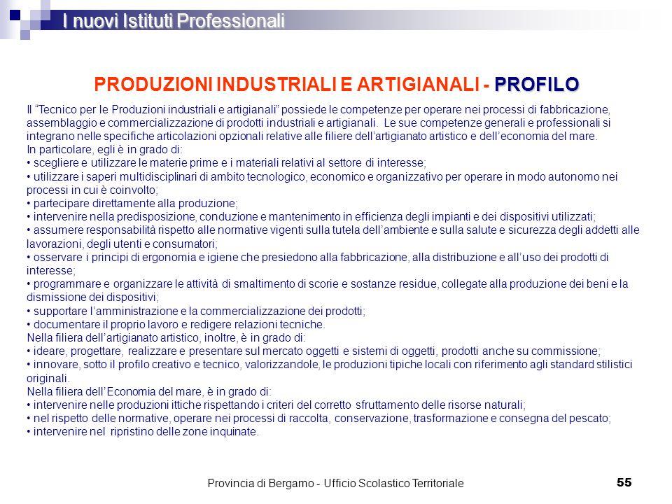 PRODUZIONI INDUSTRIALI E ARTIGIANALI - PROFILO