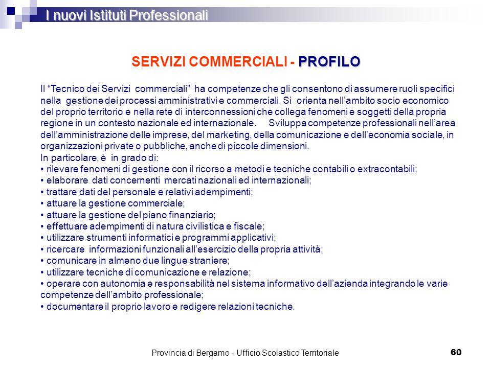 SERVIZI COMMERCIALI - PROFILO