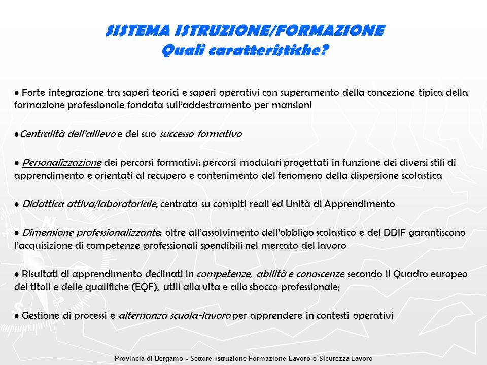 SISTEMA ISTRUZIONE/FORMAZIONE Quali caratteristiche