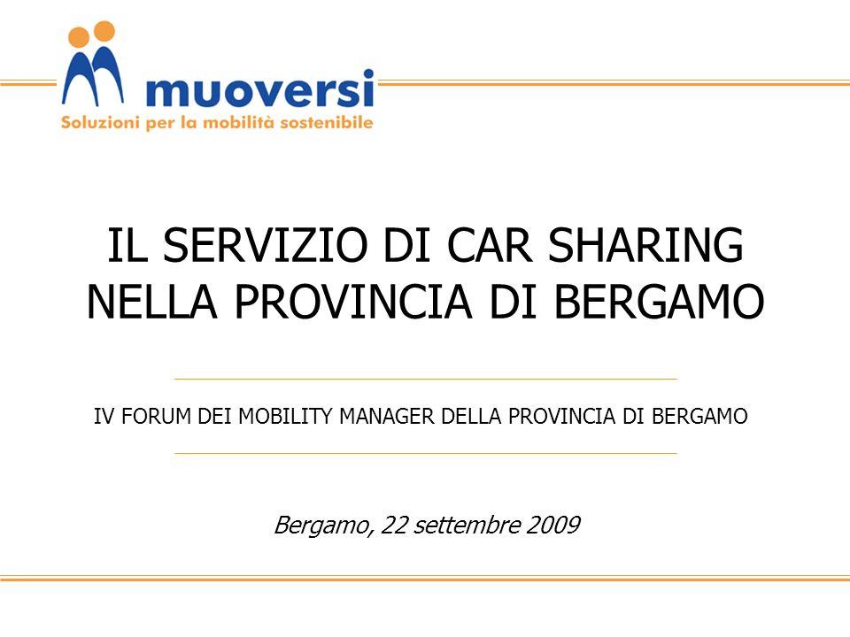 IL SERVIZIO DI CAR SHARING NELLA PROVINCIA DI BERGAMO
