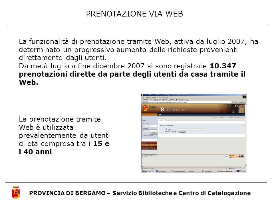 PRENOTAZIONE VIA WEB