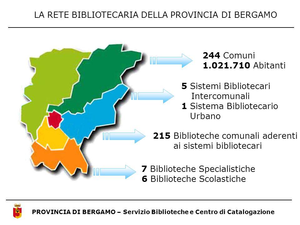 LA RETE BIBLIOTECARIA DELLA PROVINCIA DI BERGAMO