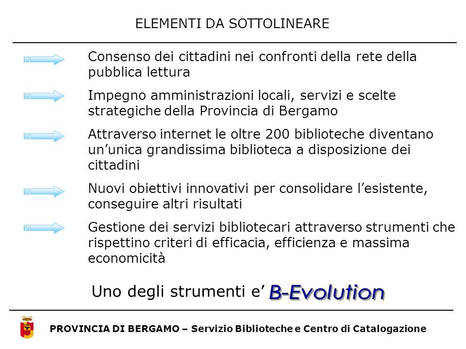 B-Evolution ELEMENTI DA SOTTOLINEARE