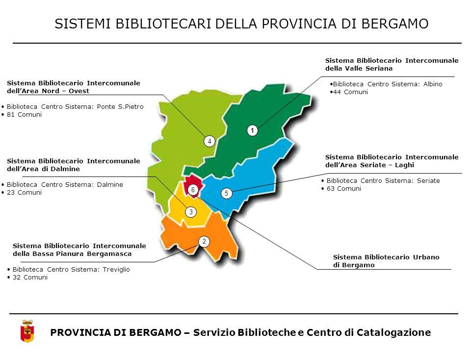 SISTEMI BIBLIOTECARI DELLA PROVINCIA DI BERGAMO