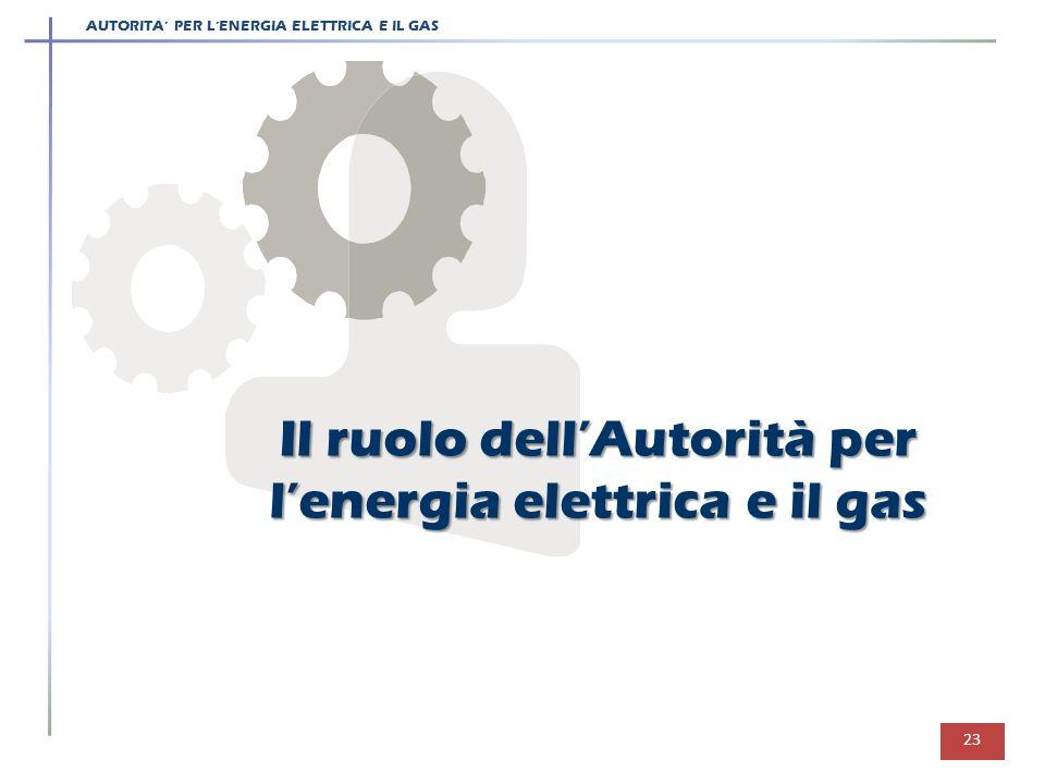 Il ruolo dell'Autorità per l'energia elettrica e il gas