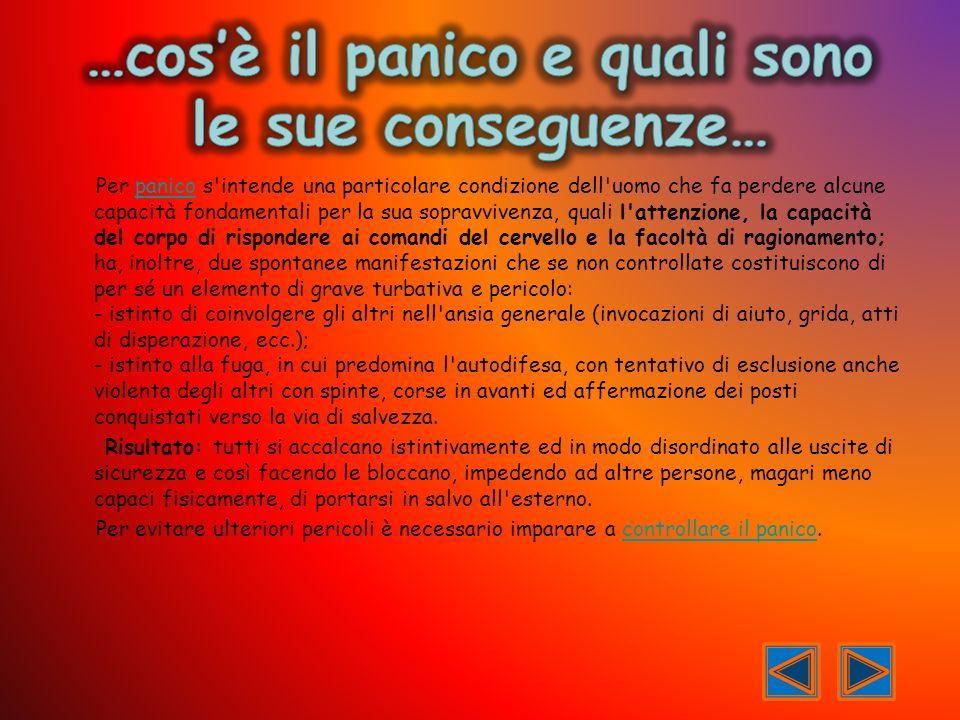 …cos'è il panico e quali sono le sue conseguenze…