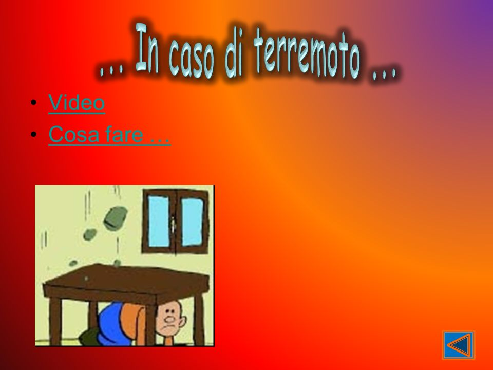 ... In caso di terremoto ... Video Cosa fare …