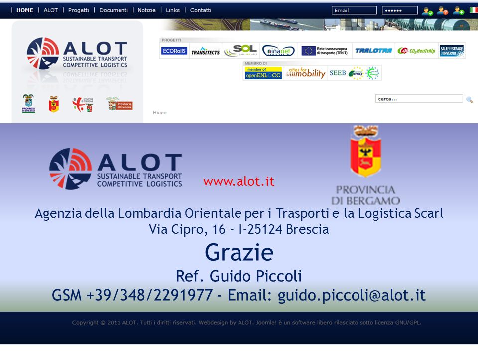 Ref. Guido Piccoli GSM +39/348/2291977 - Email: guido.piccoli@alot.it
