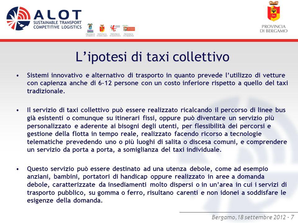 L'ipotesi di taxi collettivo