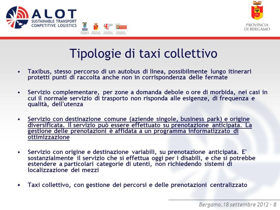 Tipologie di taxi collettivo