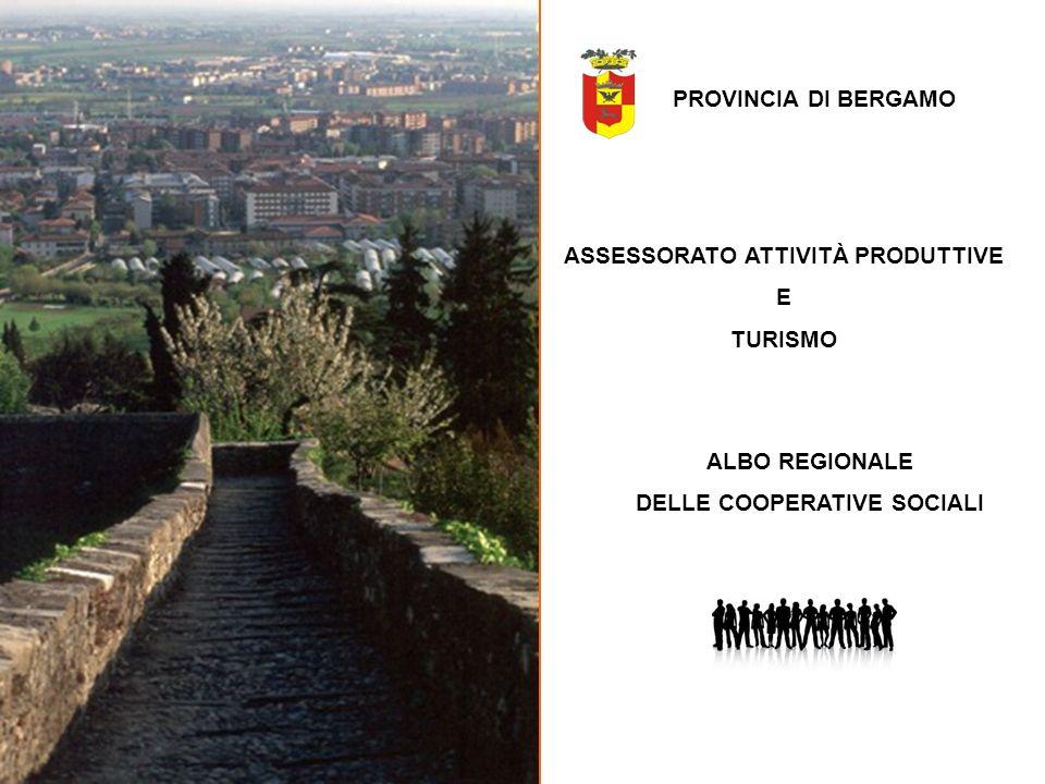 ASSESSORATO ATTIVITÀ PRODUTTIVE DELLE COOPERATIVE SOCIALI